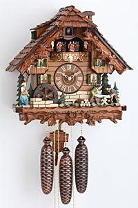 Schwarzwaldhuis met houtzagers