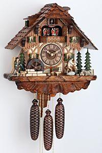 Koekoeksklok met houthakker en klokkenman