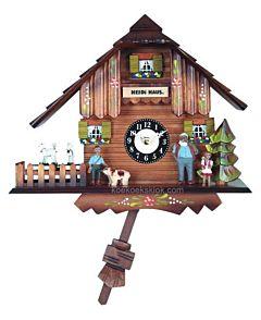 Heidihuis miniatuur klokje