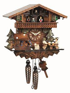 Schwarzwaldhuis met bierdrinkers