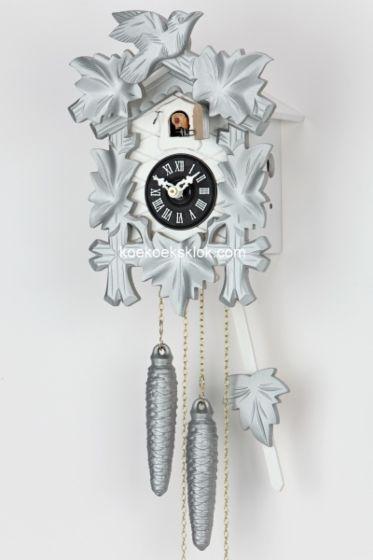 Moderne koekoeksklok zilver