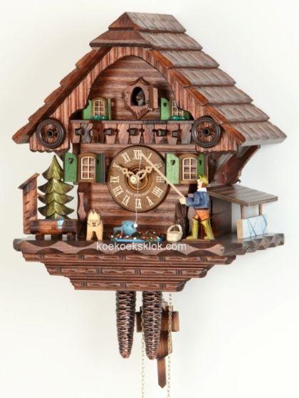 Schwarzwalder blokhuis met visser