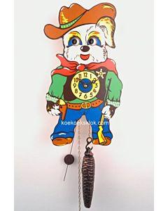 Miniatuur klokje cowboy