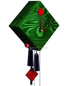 Moderne groene koekoeksklok